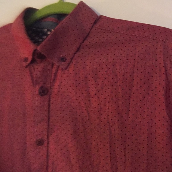 6cfdb10755ece6 Steel & Jelly Shirts | Steel Jelly Short Sleeve Mens Button Up Red ...